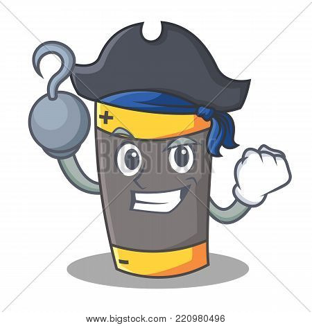 Pirate battery character cartoon style vector illustration