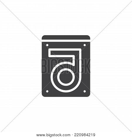 Hard drive disk icon vector, filled flat sign, solid pictogram isolated on white. HDD symbol, logo illustration.