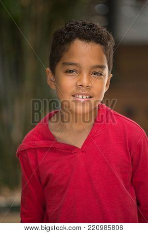 Portrait of a cute mixed race little boy.