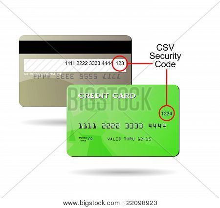Generic Credit Card CSV Security Code Location