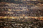 Panorama of the Palm Desert, California, United States of America. Evening Cityscape. Coachella Valley. poster