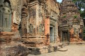Preah Ko (The Sacred Bull)  a temple in Cambodia built to the Hindu deity Shiva. poster