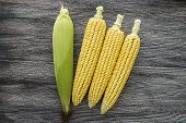 suitable corn, shelled corn tassels and scalding poster
