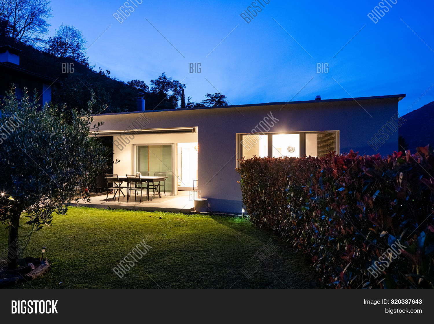 Exterior Small Modern Image Photo Free Trial Bigstock