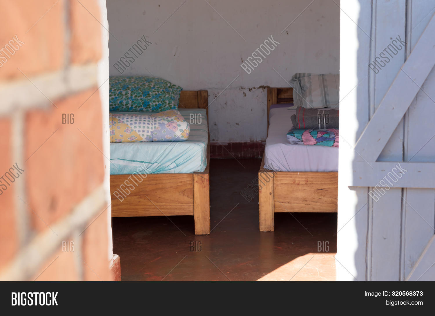 Old Wooden Bed Image Photo Free Trial Bigstock