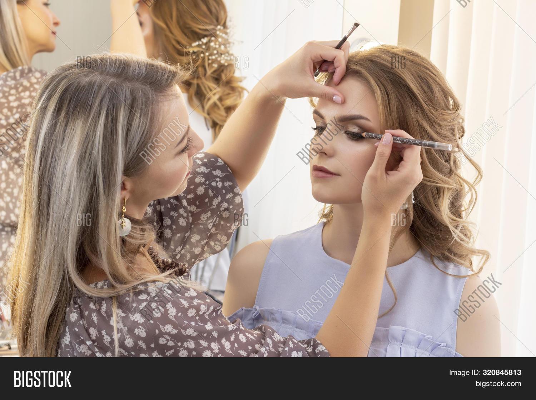 Makeup Artist Puts Image Photo Free Trial Bigstock
