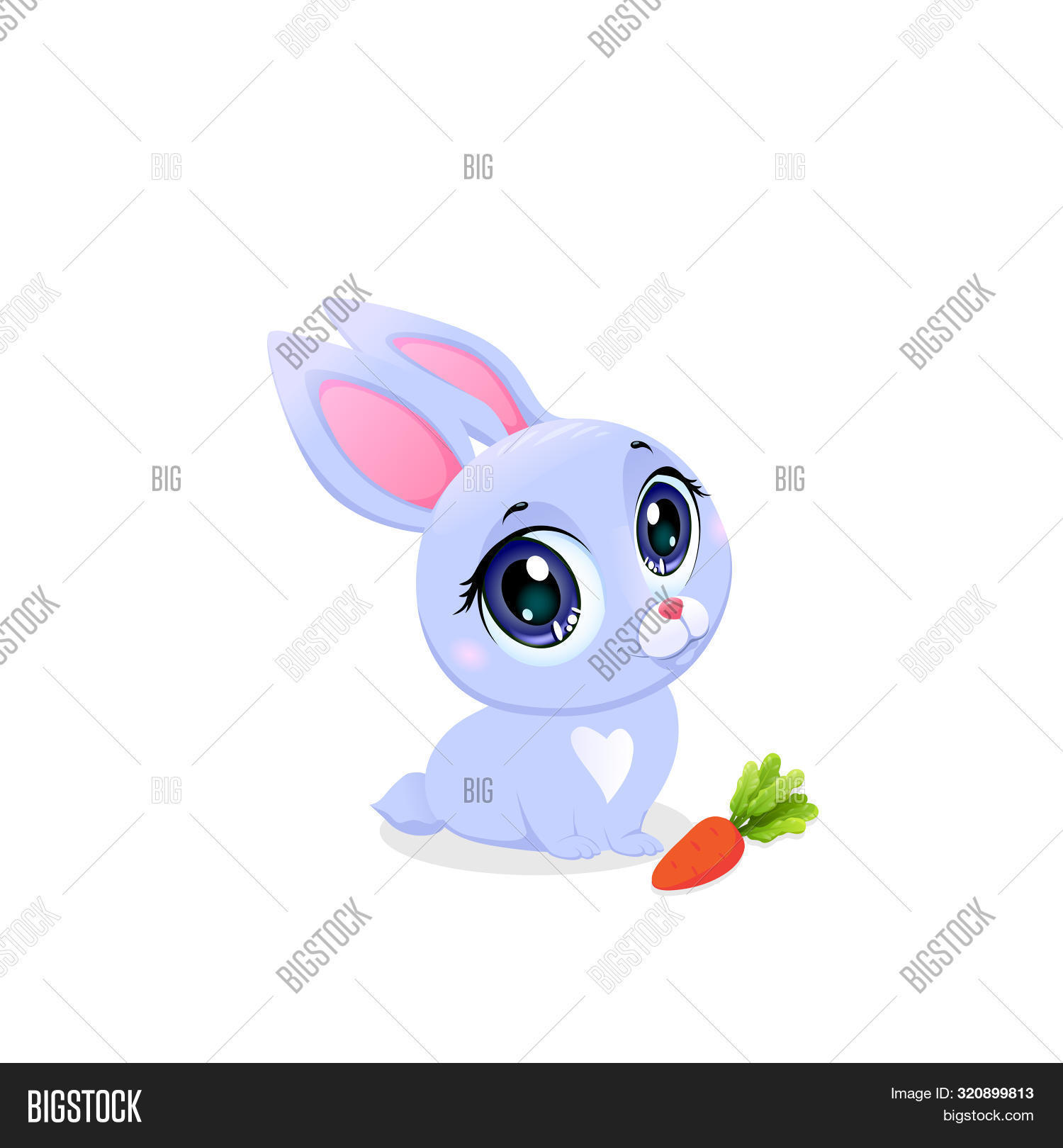 Cute Bunny Carrot Image Photo Free Trial Bigstock