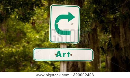 Street Sign To Art