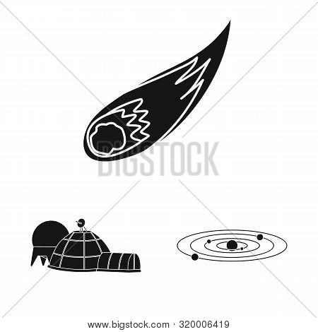 Isolated Object Of Colonization And Sky Logo. Set Of Colonization And Galaxy Stock Vector Illustrati