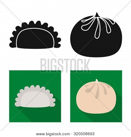 Vector Illustration Of Products And Cooking Symbol. Set Of Products And Appetizer Vector Icon For St