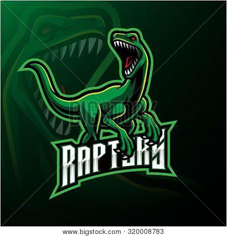 Raptor Sport Mascot Logo Design With Text