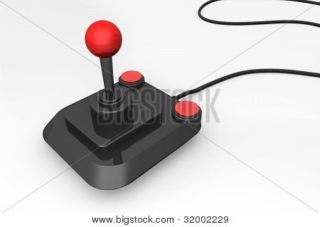 3D Render Of A Retro Joystick