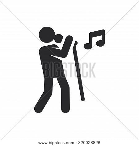 Singer Icon Isolated On White Background. Singer Icon In Trendy Design Style For Web Site And Mobile