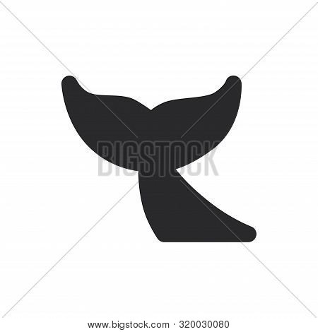 Whale Tail Icon Isolated On White Background. Whale Tail Icon In Trendy Design Style For Web Site An