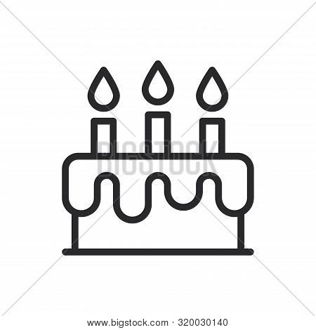 Birthday Cake Icon Isolated On White Background. Birthday Cake Icon In Trendy Design Style For Web S