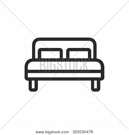 Bed Icon Isolated On White Background. Bed Icon In Trendy Design Style For Web Site And Mobile App.