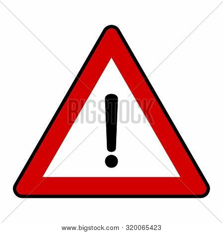 Traffic Sign Danger Vector Illustration Background - Caution,signal,danger,exclamation,mark,sign,sym