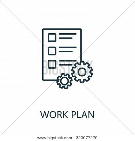 Work Plan Outline Icon. Thin Line Concept Element From Productivity Icons Collection. Creative Work