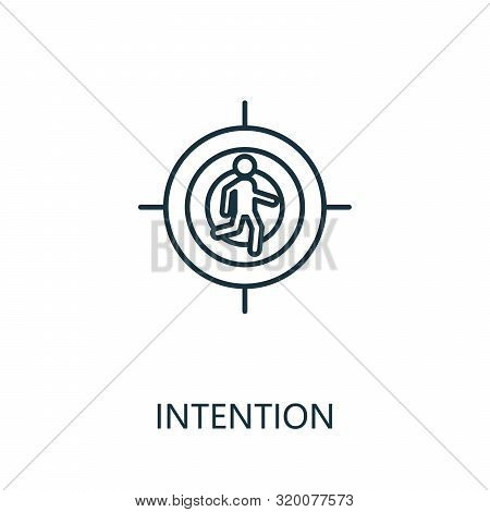 Intention Outline Icon. Thin Line Concept Element From Productivity Icons Collection. Creative Inten