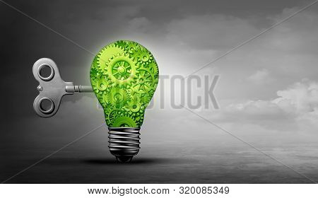 Green Solution Energy Efficiency Concept And Power Savings Idea For Alternative Fuel As A 3d Illustr
