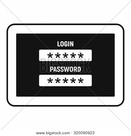 Web Bank Login Icon. Simple Illustration Of Web Bank Login Vector Icon For Web Design Isolated On Wh