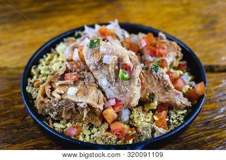 Pork Ribs In Minas Gerais. Typical Food Of The State Of Minas Gerais, Brazil.