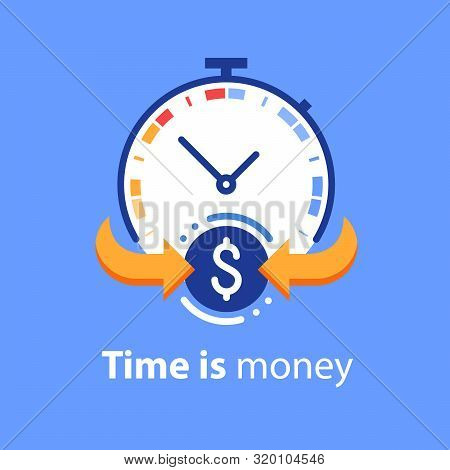 Time Is Money Concept, Timely Payment, Easy Loan, Instant Payment