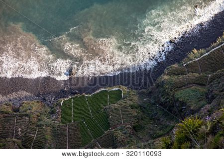 View Down From Cabo Girao On Madeira Island, Portugal, The Highest Cliff In Europe