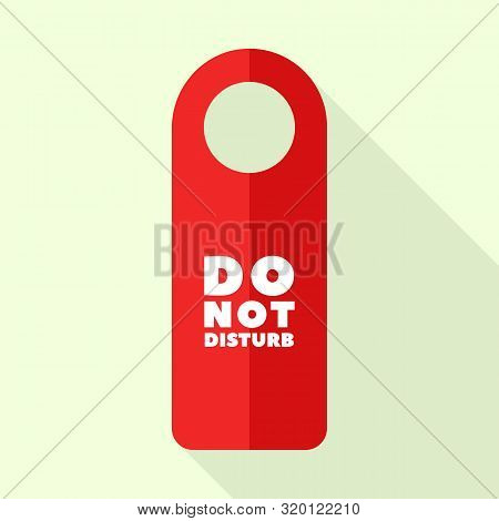 Red Color Do Not Disturb Icon. Flat Illustration Of Red Color Do Not Disturb Vector Icon For Web Des