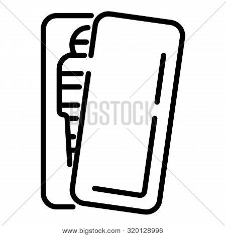 Sarcophagus With A Mummy Icon. Outline Sarcophagus With A Mummy Vector Icon For Web Design Isolated