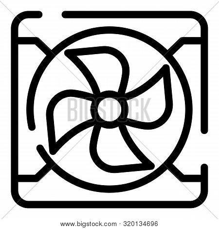 Exhaust Fan Icon. Outline Exhaust Fan Vector Icon For Web Design Isolated On White Background