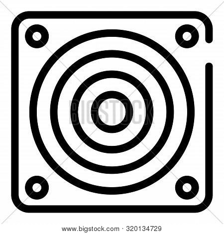 Exhaust Fan Grill Icon. Outline Exhaust Fan Grill Vector Icon For Web Design Isolated On White Backg