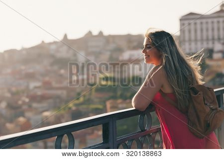 Young Enjoying The City Of Porto - Portugal