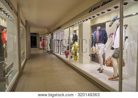 VERONA, ITALY - CIRCA MAY, 2019: display windows of a stores in Verona.