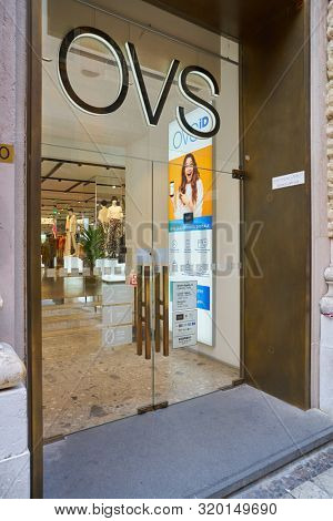 VERONA, ITALY - CIRCA MAY, 2019: entrance to OVS store in Verona.