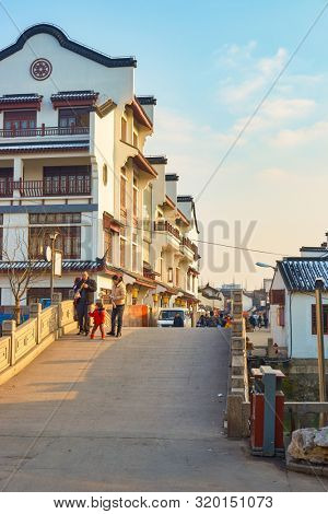 SHANGHAI, CHINA - CIRCA FEBRUARY, 2013: view of Qibao Old Town in Shanghai in the daytime.