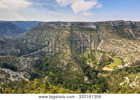 Grand Site Of The Circus Of Navacelles In Gorges La Vis In Cevennes, Southern France