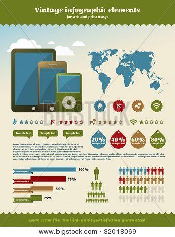 Vintage Infographics Element
