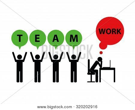 Business Teamwork And Mobbing Symbol Pictogram Vector Illustration Eps10
