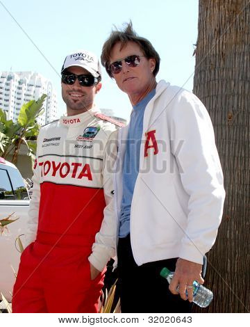 LOS ANGELES - APR 14:  Brody Jenner, Bruce Jenner at the 2012 Toyota Pro/Celeb Race at Long Beach Grand Prix on April 14, 2012 in Long Beach, CA.