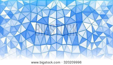 Abstract Geometric Background Consisting Of Blue And White Triangles
