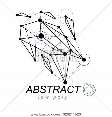 Abstract Three-dimensional Shape, Vector Design Element. Innovation Technologies Abstract Emblem.