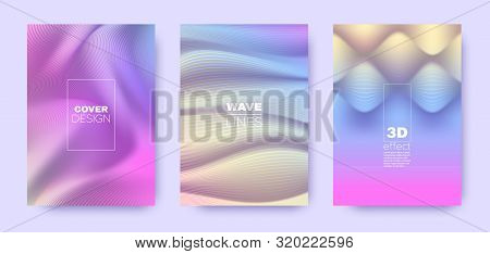 poster of Multicolor Poster. Colorful 3d Lines Shape. Abstract Vibrant Wallpaper. Colorful Gradient Background. Multicolor Geometric Texture. 3d Poster. Pastel Modern Background. Gradient Lines Banner.