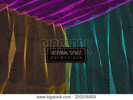 Vector Illusive Surreal Art Background For Design Like A Hallucination Drug Trip Surrealism, Linear