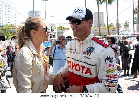 LOS ANGELES - APR 14:  LeAnn Rimes, Eddie Cibrian at the 2012 Toyota Pro/Celeb Race at Long Beach Grand Prix on April 14, 2012 in Long Beach, CA.