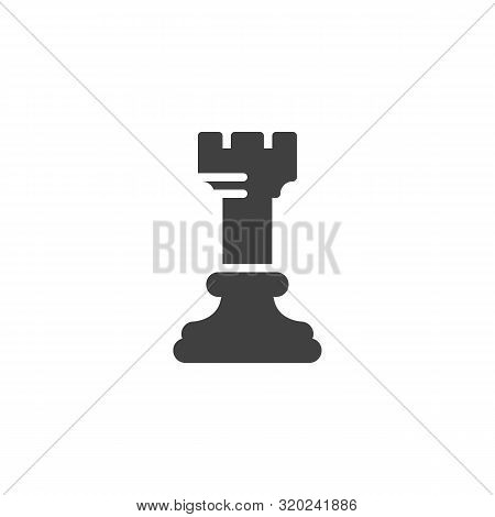 Chess Rook Vector Icon. Filled Flat Sign For Mobile Concept And Web Design. Rook Chess Figure Glyph