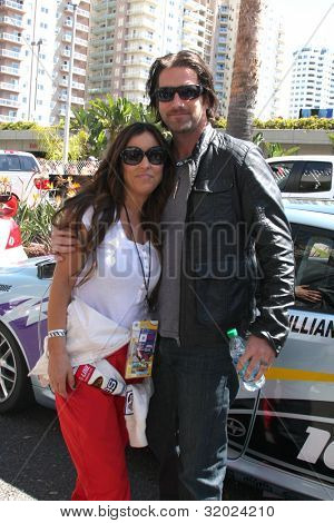 LOS ANGELES - APR 14:  Jillian Barbarie Reynolds, husband at the 2012 Toyota Pro/Celeb Race at Long Beach Grand Prix on April 14, 2012 in Long Beach, CA.