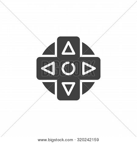 Joystick Controller Vector Icon. Filled Flat Sign For Mobile Concept And Web Design. Game Controller