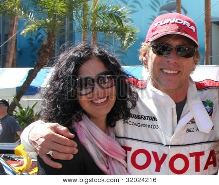 LOS ANGELES - APR 14:  William Fichtner, wife, friends at the 2012 Toyota Pro/Celeb Race at Long Beach Grand Prix on April 14, 2012 in Long Beach, CA.