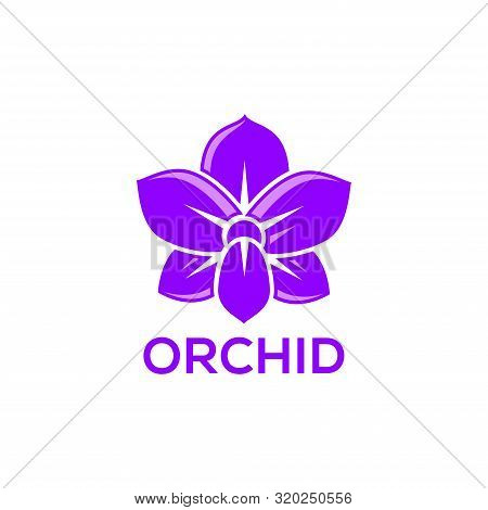 Orchid Vector Flower Isolated On White Background, Orchid Logo Vector, Orchid Flower Logo Design, Or